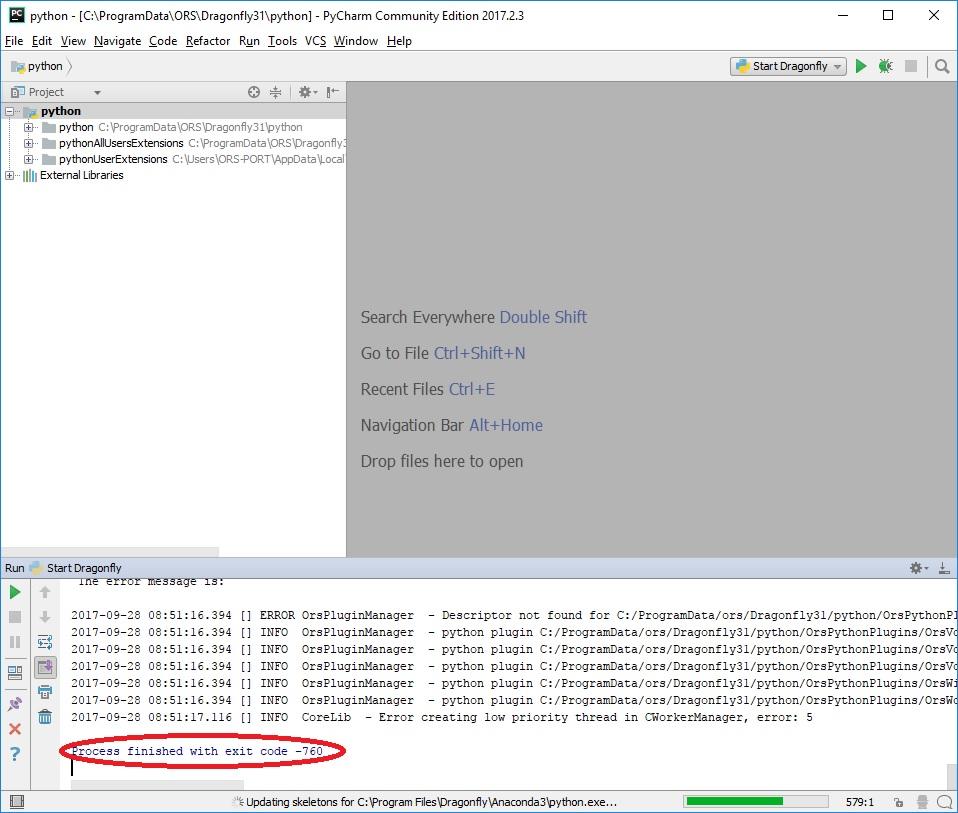 Setup for development with PyCharm — Dragonfly 3 6 documentation